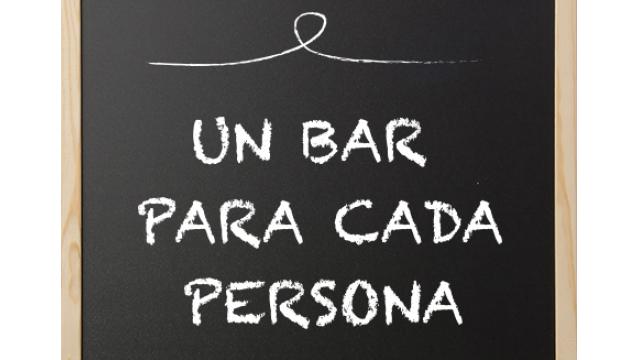 ¡Un bar para cada persona!